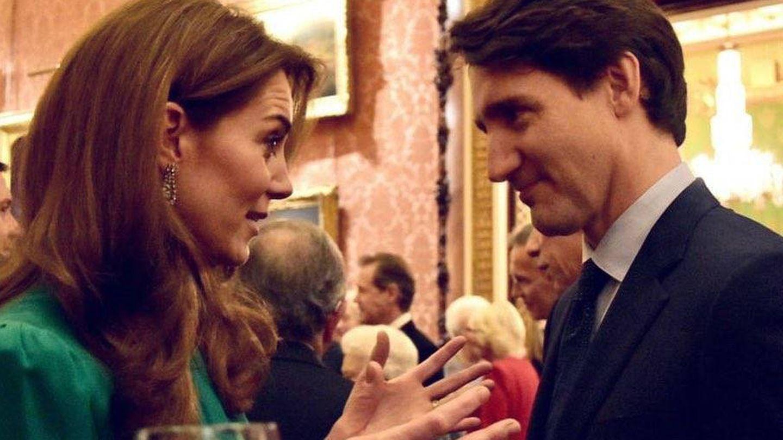 Kate Middleton y el primer ministro de Canadá, Justin Trudeau. (Palacio de Buckingham)