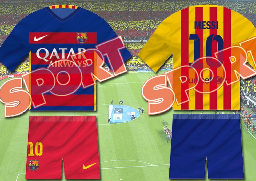 FC Barcelona  Así será la próxima camiseta del Barcelona  rayas  horizontales y la estelada en la espalda ba584c6f722