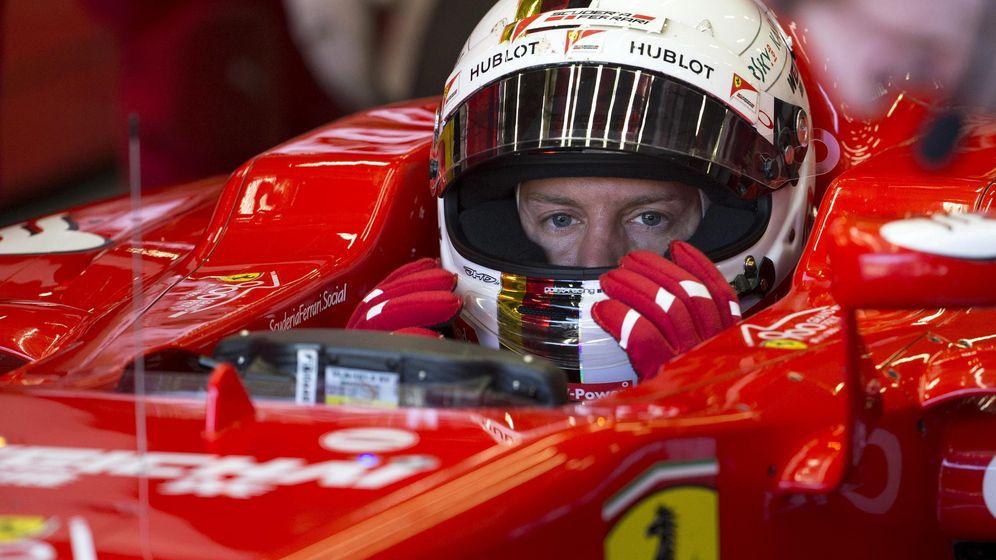 Foto: La explosión de Vettel y de su neumático: ¿a quién le estallará en la cara?
