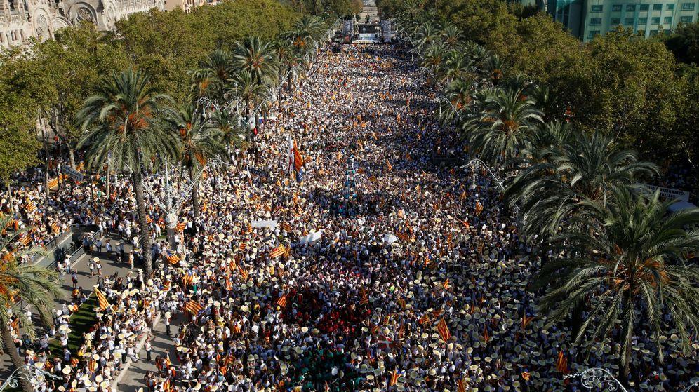 Foto: Vista aérea en la última Diada. (Reuters)