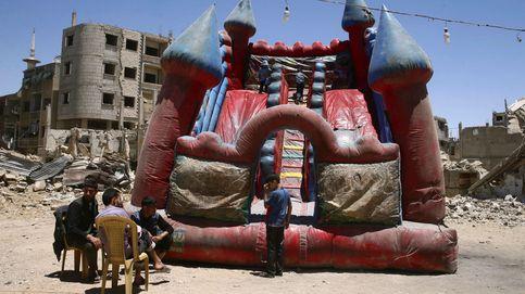 Pese a la guerra, los niños sirios siguen jugando