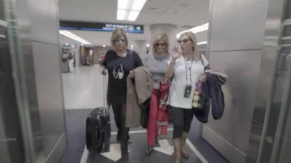 Foto: Las Campos aterrizan en Miami (Telecinco).