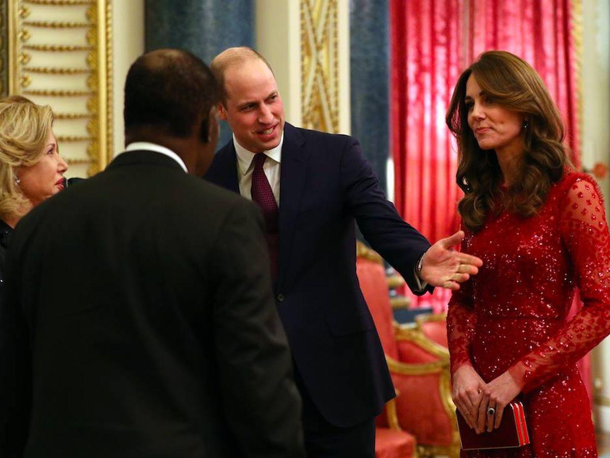 Foto: Kate Middleton con su vestido de Needle and Threat. (Getty)