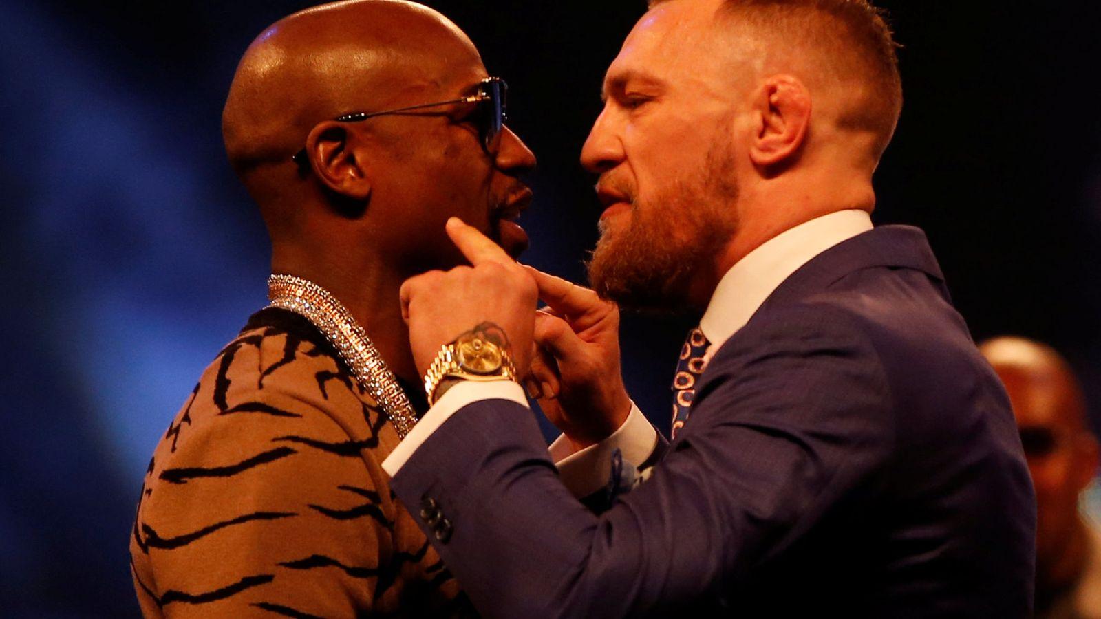 Foto: En la imagen, Floyd Mayweather y Conor Mcgregor. (Reuters)