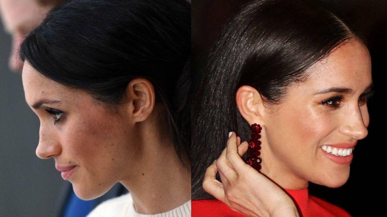Las caras y los labiales de Meghan Markle.  (Getty)