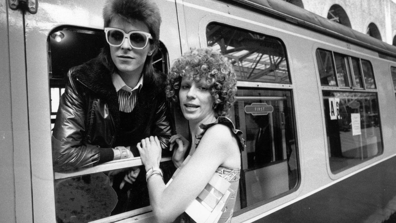 Bowie y su primera mujer, Angie. (Getty)