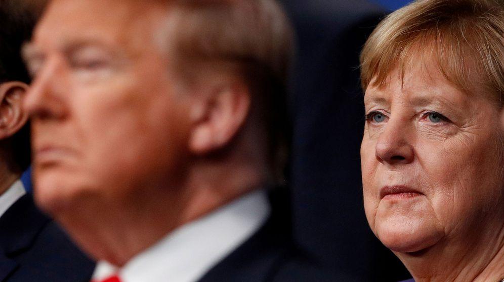 Foto: Donald Trump y Angela Merkel, en 2019. (Reuters)