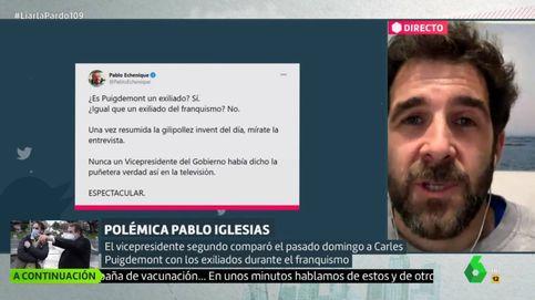 Gonzo responde a Echenique por defender las palabras de Iglesias sobre Puigdemont