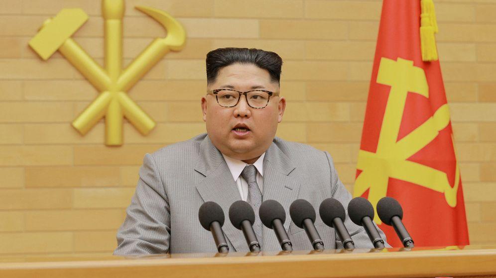 Foto: El líder de Corea del Norte, Kim Jong-Un, durante el discurso de Año Nuevo. (Reuters)
