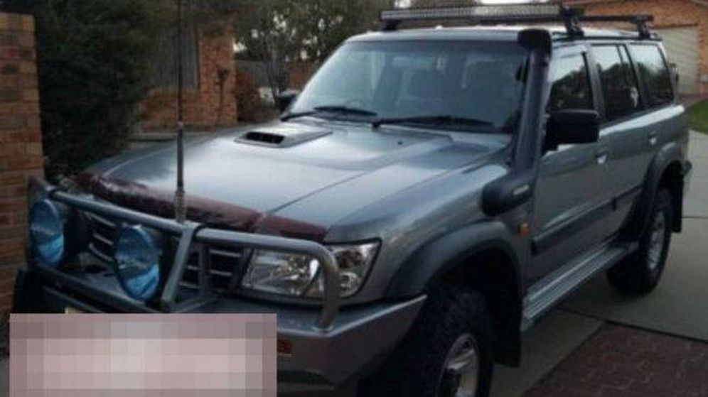 Foto: El vehículo robado, con la matrícula oculta, con el que los niños recorrieron 900 kilómetros (Foto: Queensland Police)