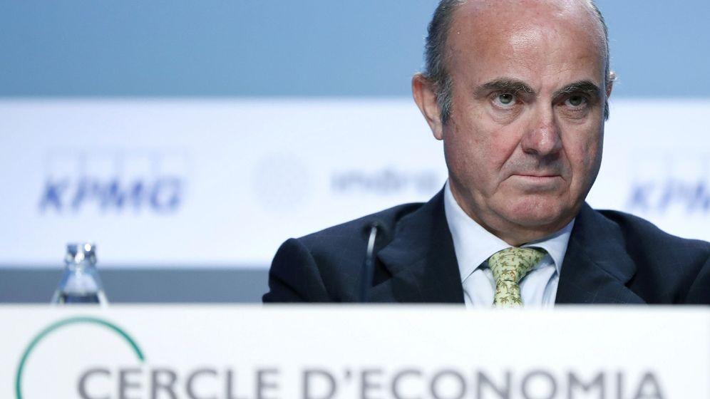 Foto: El ministro de Economía, Industria y Competitividad del Gobierno, Luis de Guindos