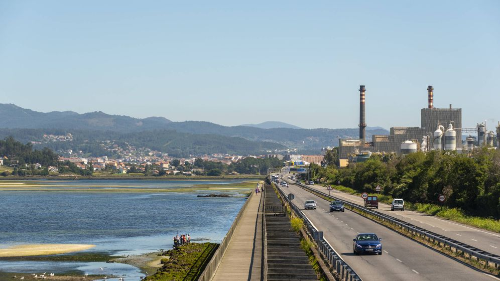 Foto: Fábrica de Ence en Pontevedra.