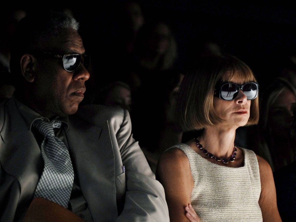 Foto:  André Leon Talley y Anna Wintour. (Getty)