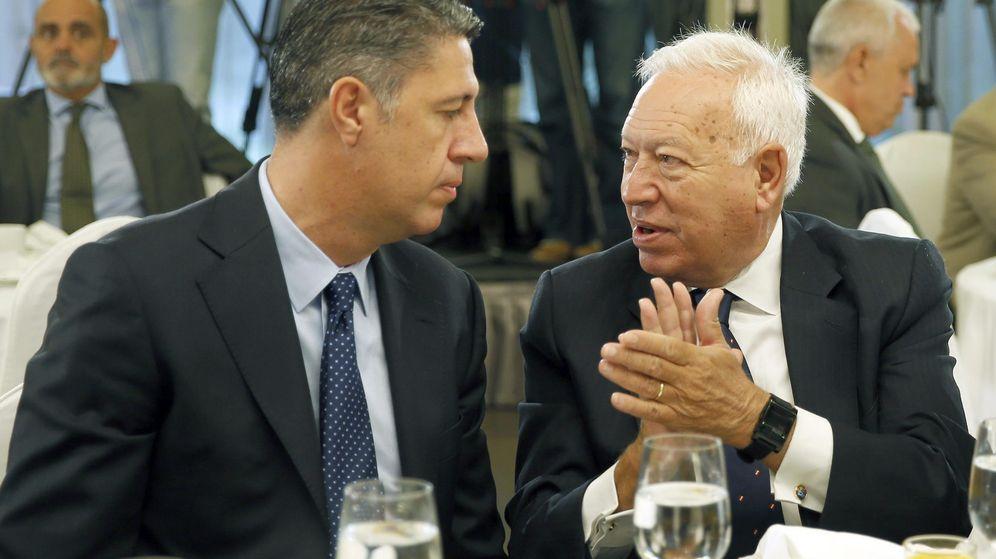 Foto: El ministro español de Exteriores, José Manuel García-Margallo (d), junto al candidato del PPC en las elecciones catalanas del 27S, Xavier García Albiol. (EFE)