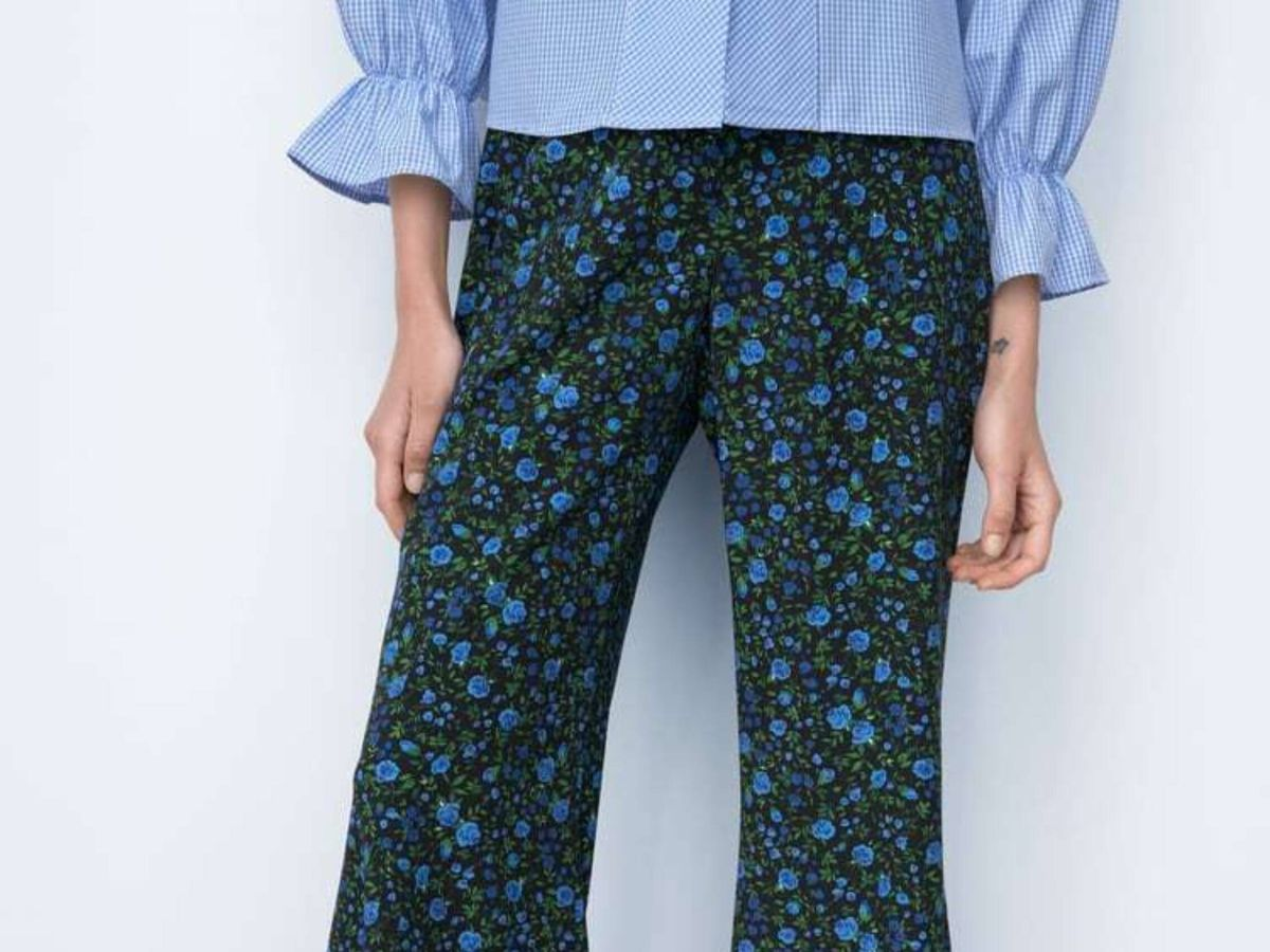 Foto: El pantalón de flores de Zara. (Cortesía)