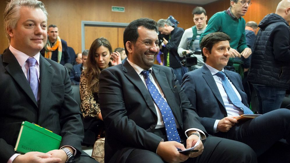 Foto: E, jeque-al-thani, propietario del Málaga CF, en el juicio del febrero de 2019 en la Ciudad de la Justicia de Málaga (EFE).