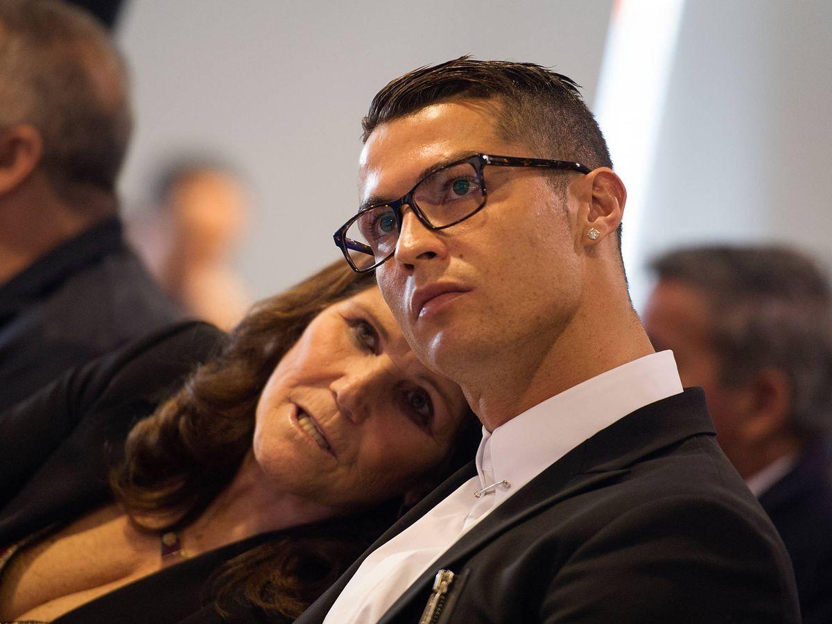 Foto:  Dolores Aveiro y Cristiano Ronaldo. (Getty)