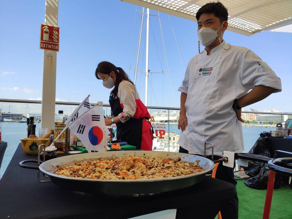 Foto: La paella de Sang-hoon.