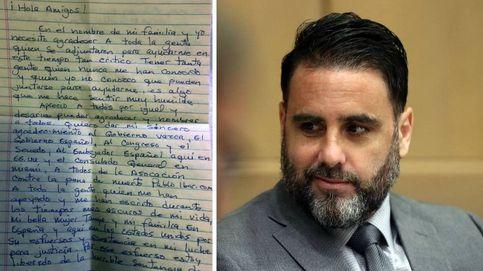 La carta de Pablo Ibar en la que asegura que seguirá su lucha: Me habéis salvado la vida
