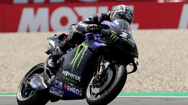Maverick Viñales, en su Yamaha. (Reuters)