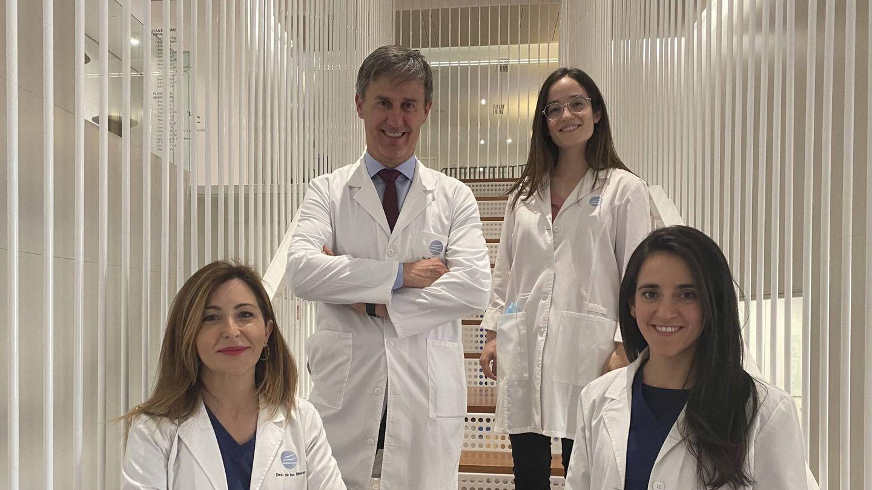 Equipo de Dermatología Estética en CDI: Dra. de las Heras, Dra. Sáenz de Santa María, Dra. García Jarabo y Dr. Ricardo Ruiz.