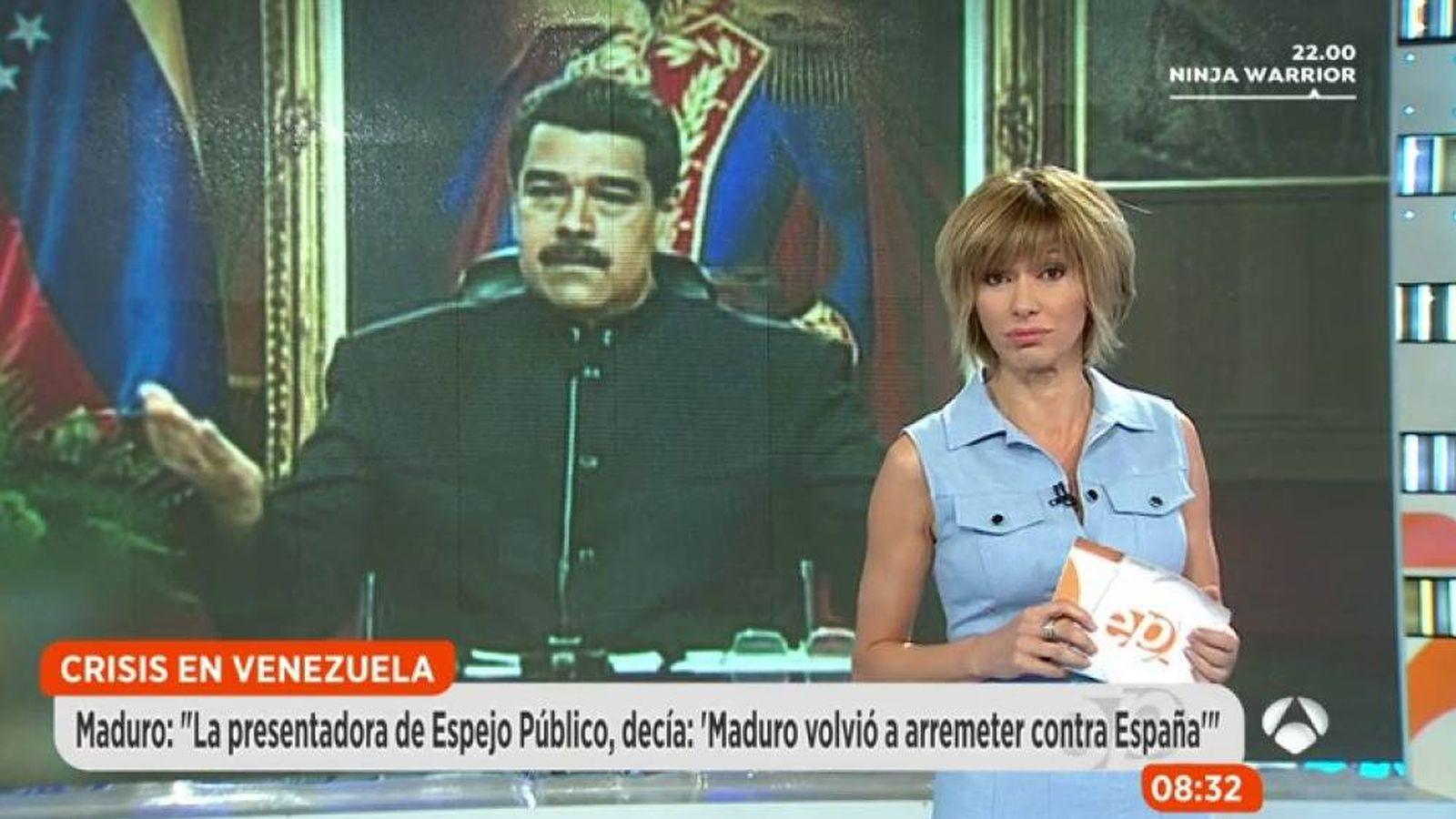 """Foto: Susanna Griso responde a Nicolás Maduro recordándole """"sus muertos""""."""