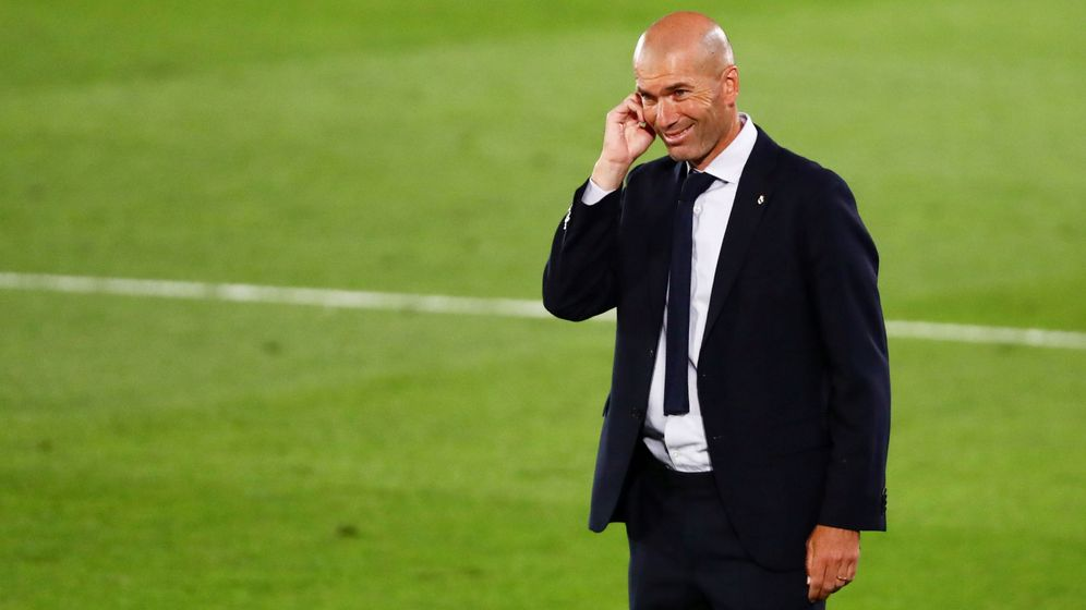 Foto: Zidane, durante un partido como entrenador del Real Madrid. (Reuters)