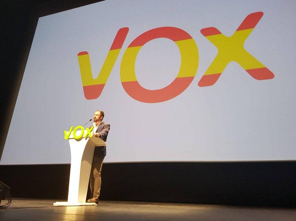 Foto: Abascal, en un momento del mitin celebrado en Sevilla.