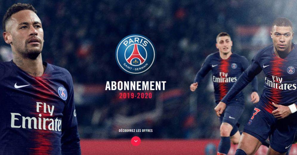 Foto: Neymar, Mbappé y Verratti son la imagen de los abonos del PSG para la próxima temporada. (PSG)