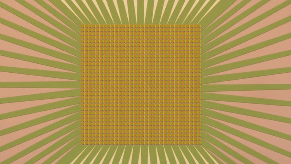 Foto: Micrografía de la cámara de 1.024 sensores del NIST. Foto: V. VERMA/NIST