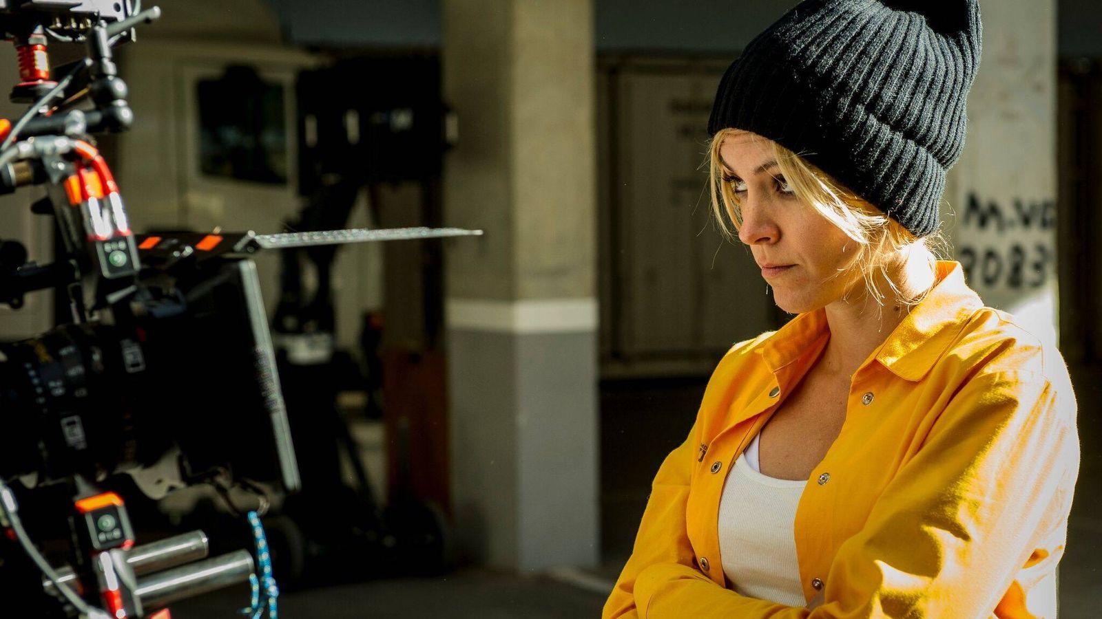 Foto: Maggie Civantos, en el rodaje de la tercera temporada de 'Vis a vis'. (Fox)