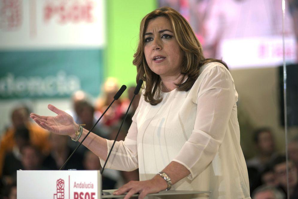 Foto: La secretaria general del PSOE andaluz y presidenta de la Junta, Susana Díaz, el pasado 16 de diciembre en su mitin con José Luis Rodríguez Zapatero en Jaén. (EFE)