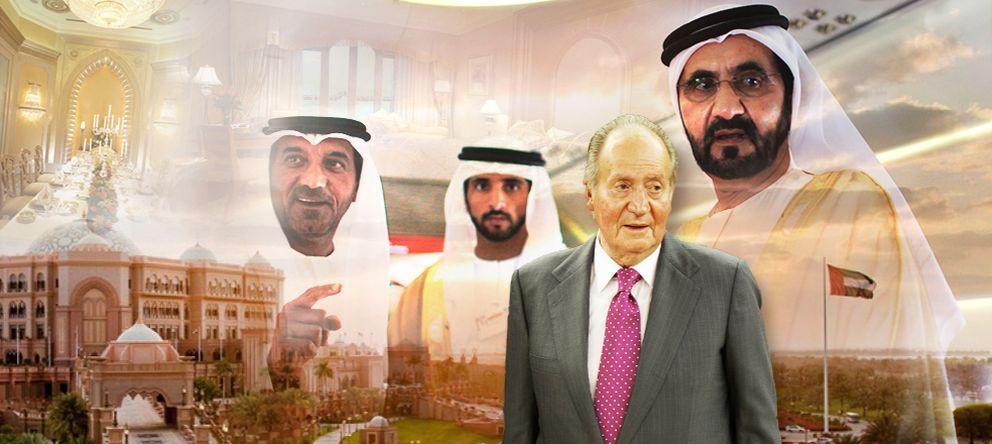 Foto: El rey Juan Carlos junto al jeque Mohammed bin Rashid al Maktoum (Montaje: Enrique Villarino)