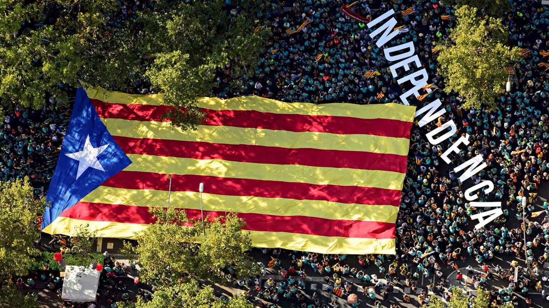 Manifestación de la Diada en Barcelona, el pasado 11 de septiembre. (Reuters)