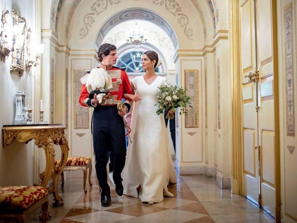 Foto:  Sofía y Fernando, el día de su boda. (EFE)