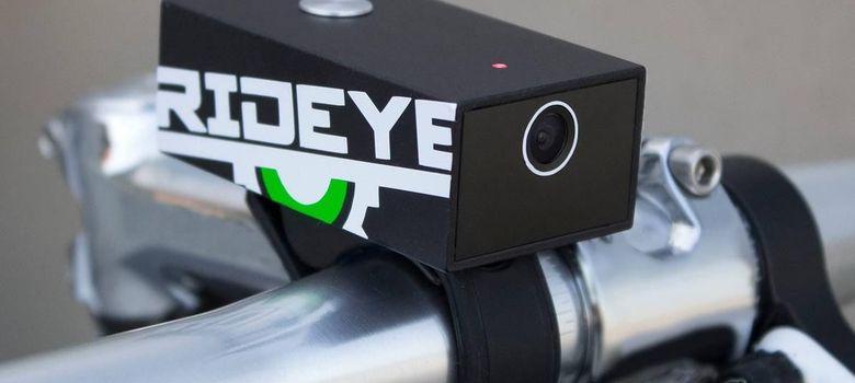 Foto: Rideye se coloca en el manillar de la bicicleta y graba imágenes con un ángulo de 120 grados.