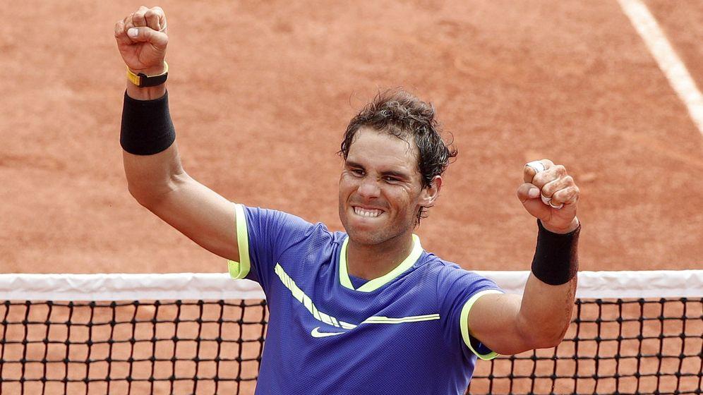 Foto: Rafa Nadal en Roland Garros.