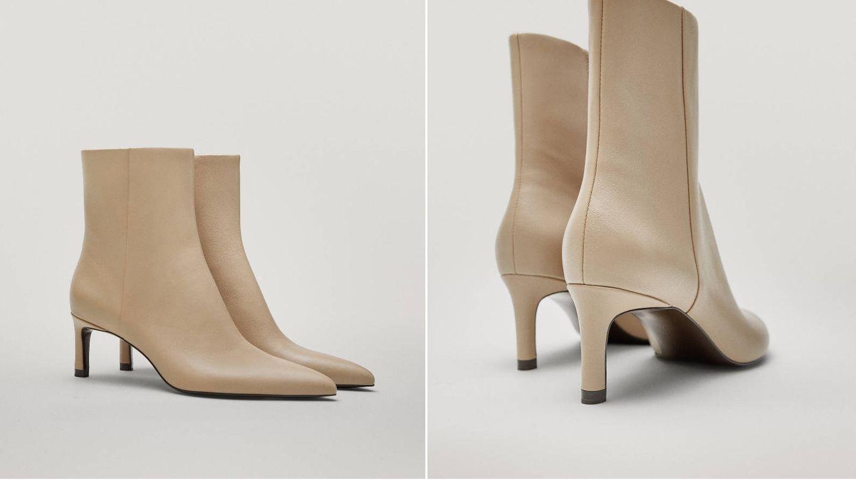 Botines de piel de Massimo Dutti. (Cortesía)