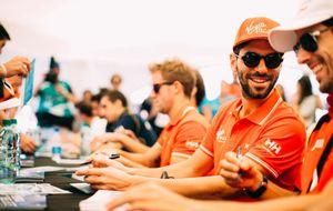 Alguersuari, cuarto, hizo de saco de boxeo en la Fórmula E