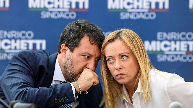 Salvini y Meloni, en un acto el 1 de octubre. (EFE)