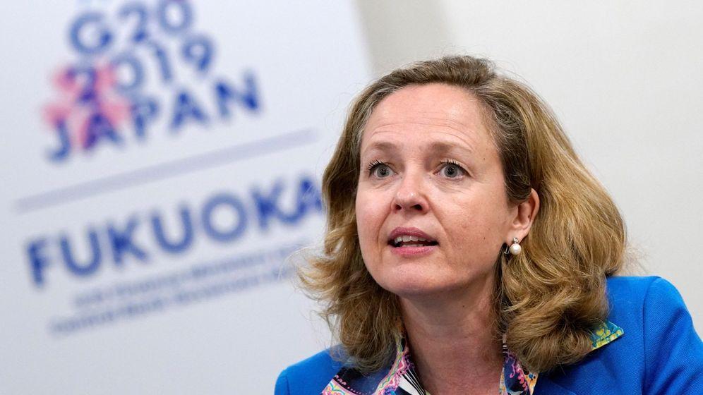 Foto: La ministra de Economía en funciones, Nadia Calviño, en la reunión del G-20. (EFE)