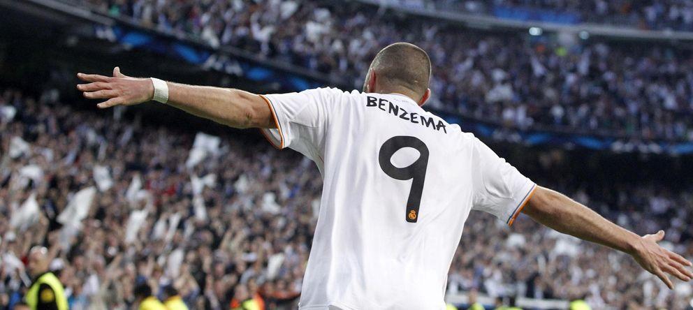 Foto: Karim Benzema celebra su gol ante el Bayern de Múnich durante la pasada temporada.