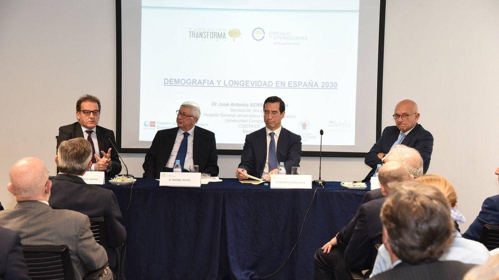 Foto: José Antonio Serra, Rafael Puyol, Alonso Puig y José Viñas.