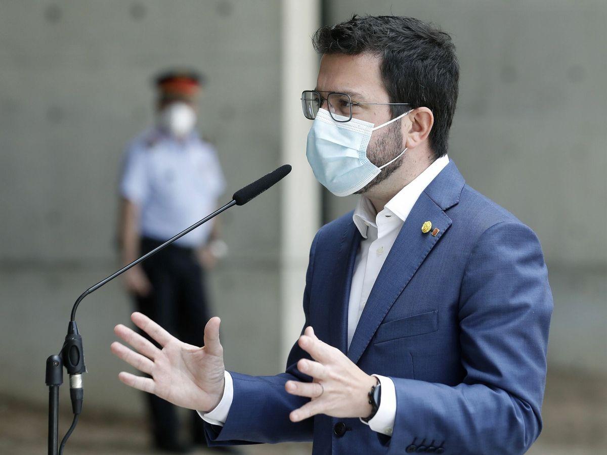 Foto: El presidente de la Generalitat, Pere Aragonés. (EFE)