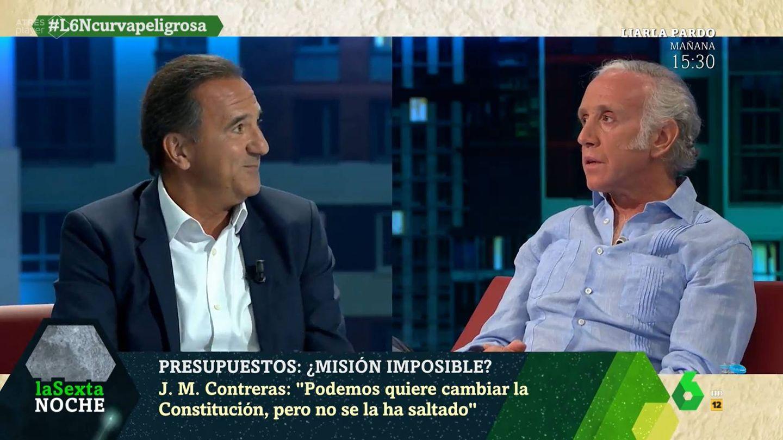 José Miguel Contreras y Eduardo Inda, en 'La Sexta Noche'. (Atresmedia)