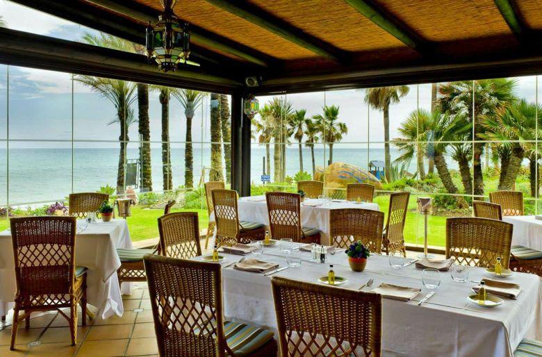 Imagen del restaurante del hotel Kempinski de Marbella