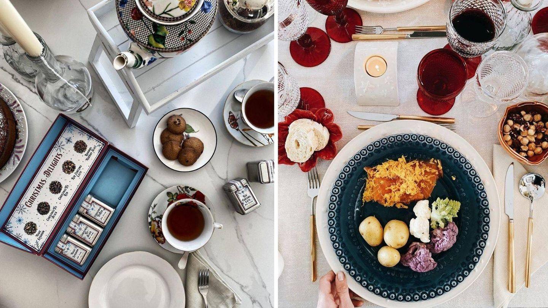Menaje y decoración de mesa de Eugenia Osborne. (Instagram @eugenia_osborne)