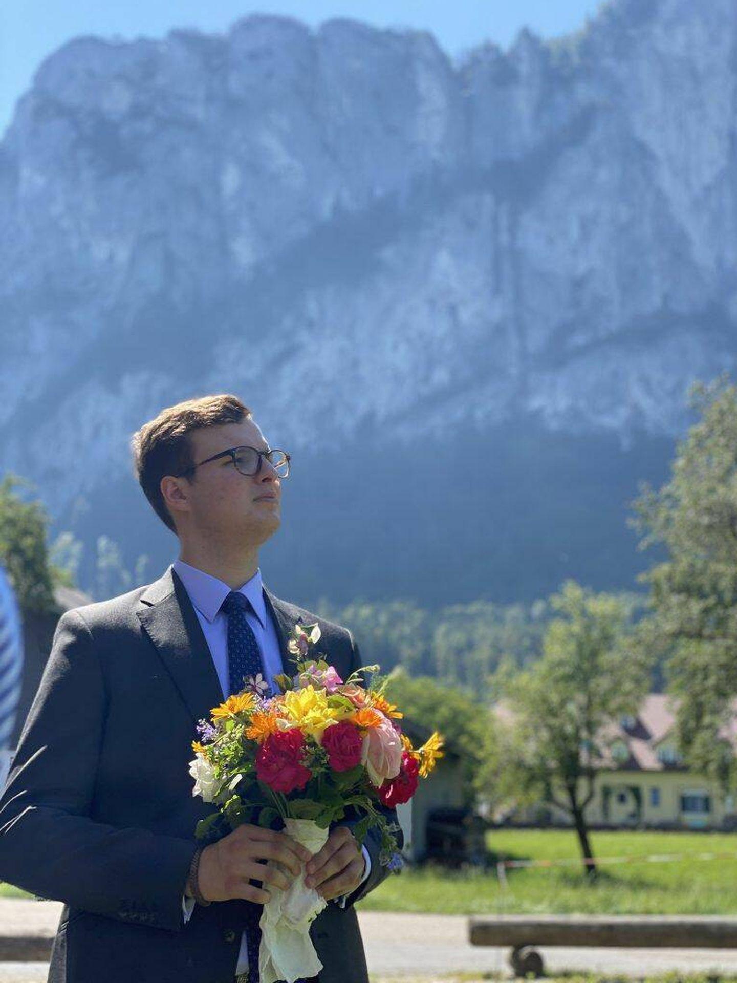 Alexander, en la boda de una de sus tías paternas. (Casa de Sayn)