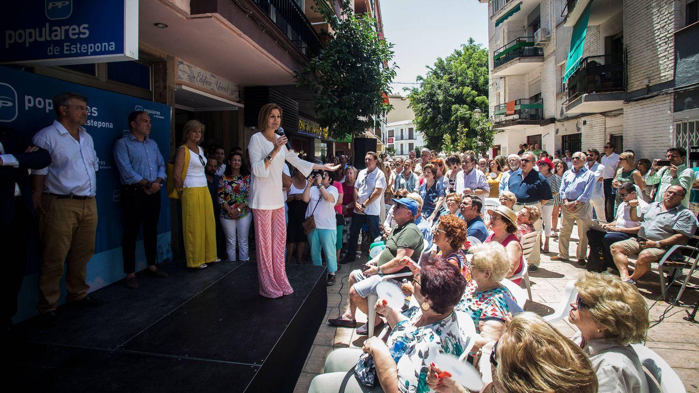 Acto de campaña de la candidata en Estepona.