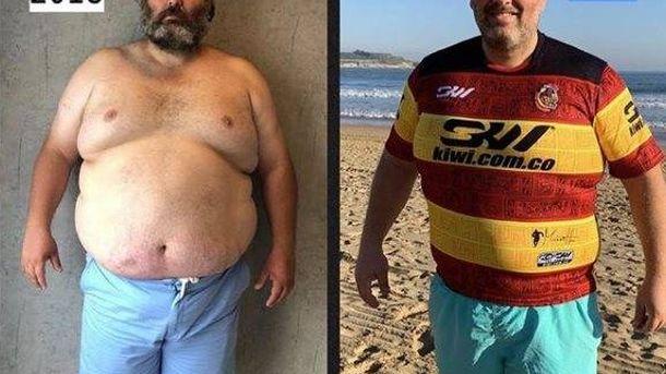 Foto: El antes y el después en poco tiempo de Chucho. (@desafiotryagain)